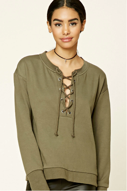 forever-21-lace-up-top-18-dollars