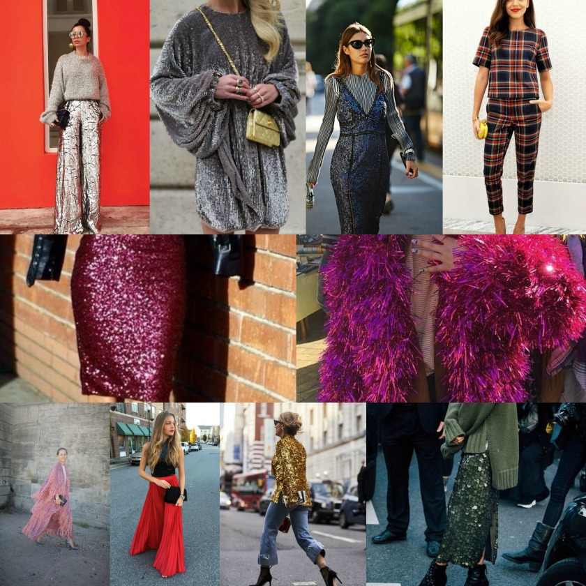 holiday outfit collage