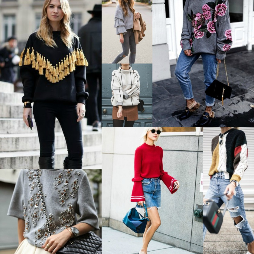 Statement Sweater Collage