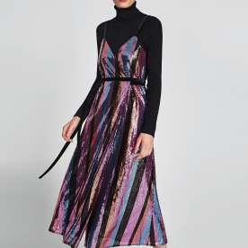 Crossbody Sequinned Dress