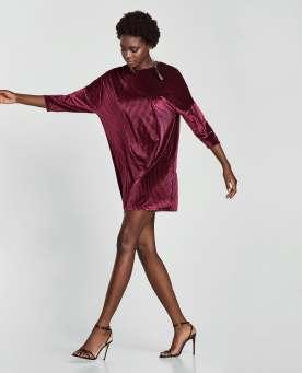 Diamond Patterned Velvet Dress