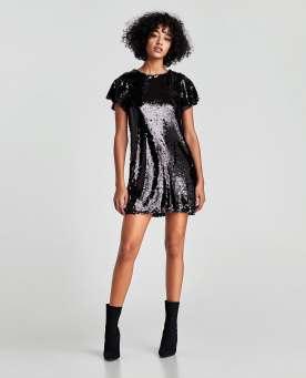 Sequinned Short Dress