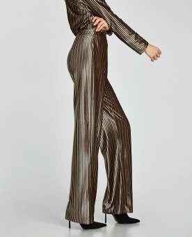 Striped Velvet Trousers